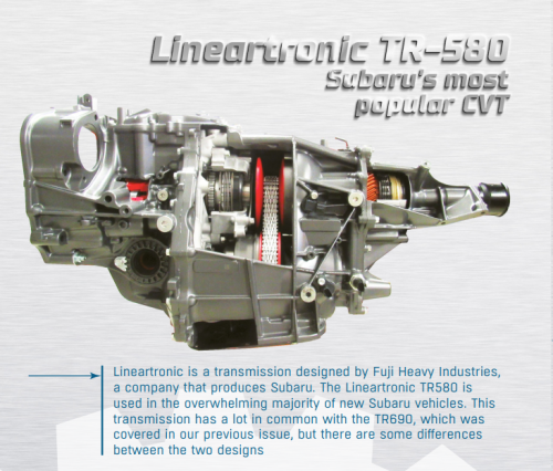 Lineartronic TR-580: Subaru's most popular CVT - The AKPPro