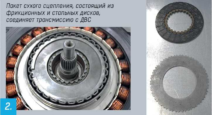 Фрикционы внутри электродвигателя