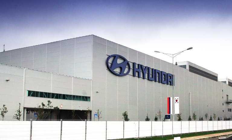 Фото завода Hyundai