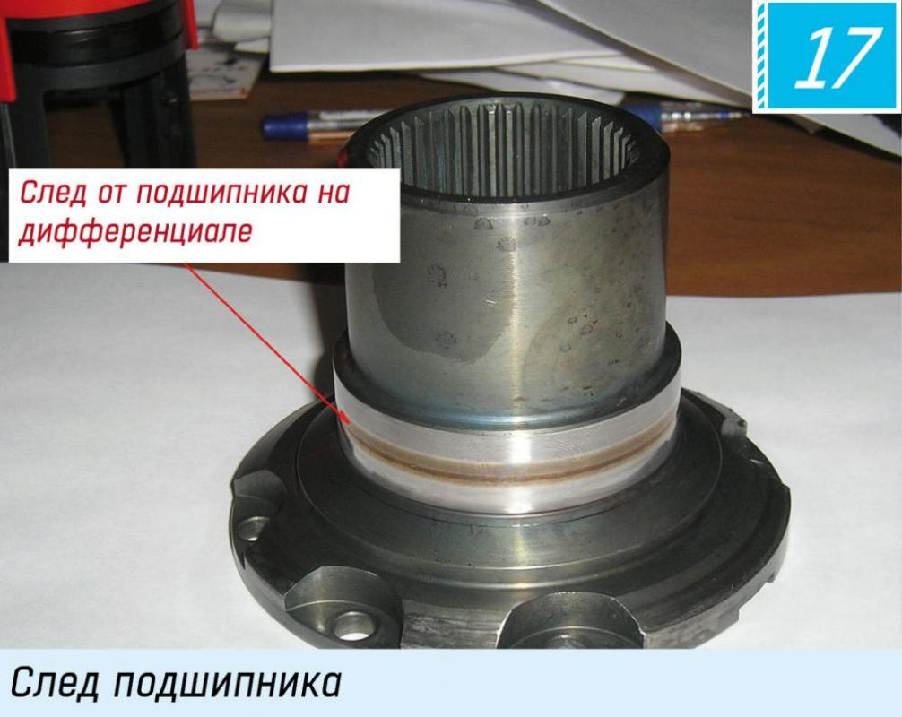 Traces of bearing on differential. Bearing traces GM 6T